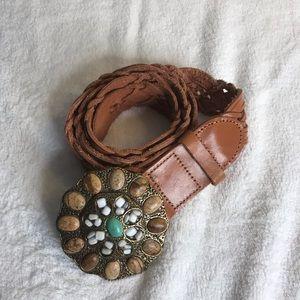 CAbi braided leather belt medium.